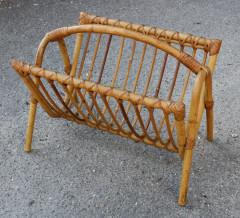 Porte revues en bambou, vintage