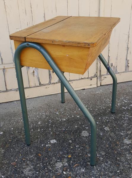 Bureau Du0027écolier, Vintage, Métal Et Bois, ...