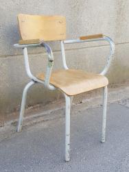 Paire de chaises écolier, vintage