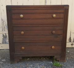commode bois vintage années 40