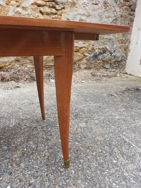 table salle manger vintage bois vernis vintage annes 50