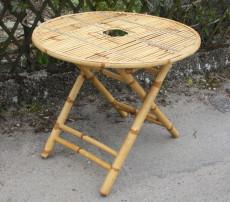 table jardin en bambou pliante