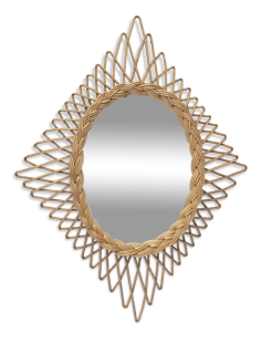 Miroirs soleil rotin vintage