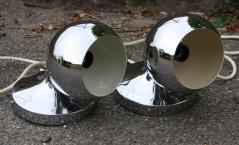 """Lampe """"Eye Ball"""" finition miroir Vintage années 60-70's, authentique /XXème"""