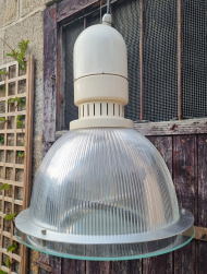 Suspension, lampe industrielle, style Mazda, vintage