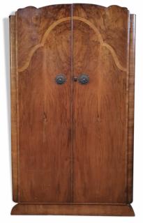 Armoire d'internat ou de pensionnat, bois, vintage, années 50