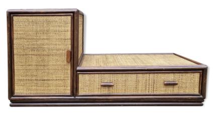 Meuble télé bambou, vintage, années 60
