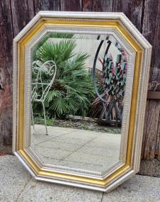 Miroir octogonale à frise d'ove, années 20