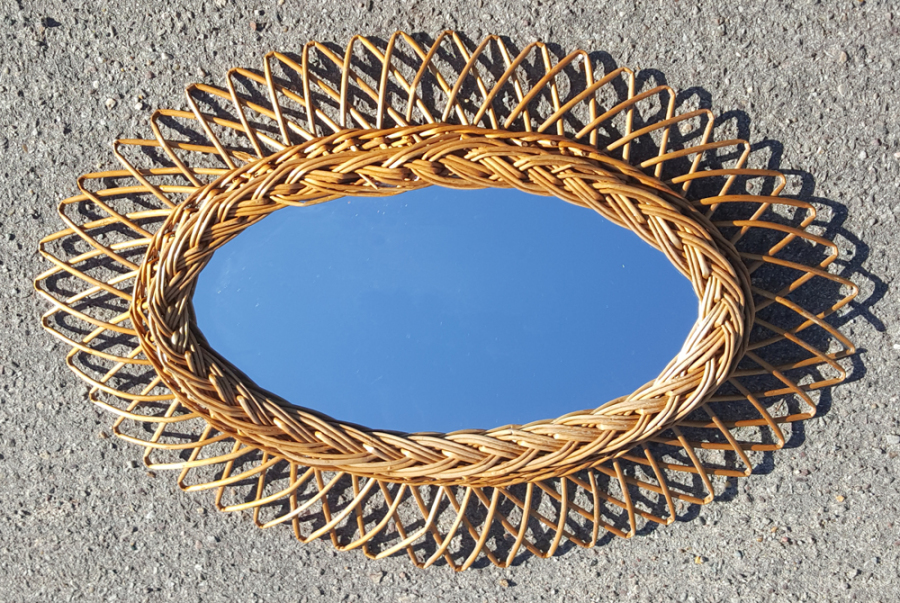 Miroirs soleil miroirs fleurs miroir rotin miroir for Miroir soleil design