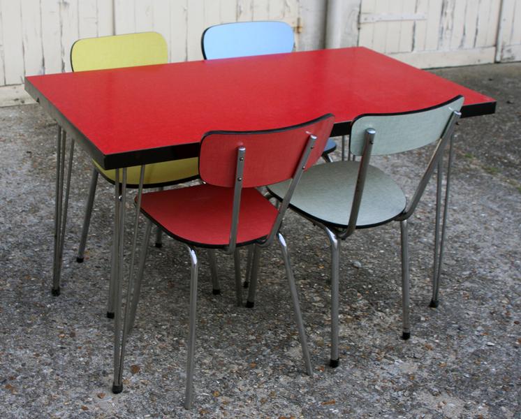 broc co tables formica table cuisine formica 1950 1960 1970 vintage fifties sixties. Black Bedroom Furniture Sets. Home Design Ideas