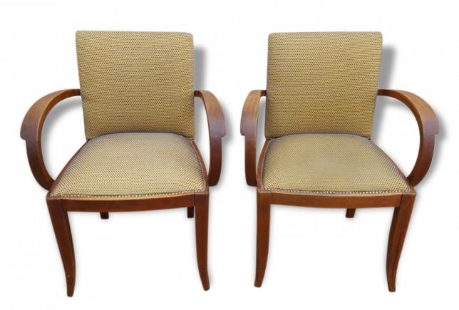 Broc co fauteuils vintage ann es 50 70 accoudoir fauteuil bridge - Fauteuil annee 30 art deco ...