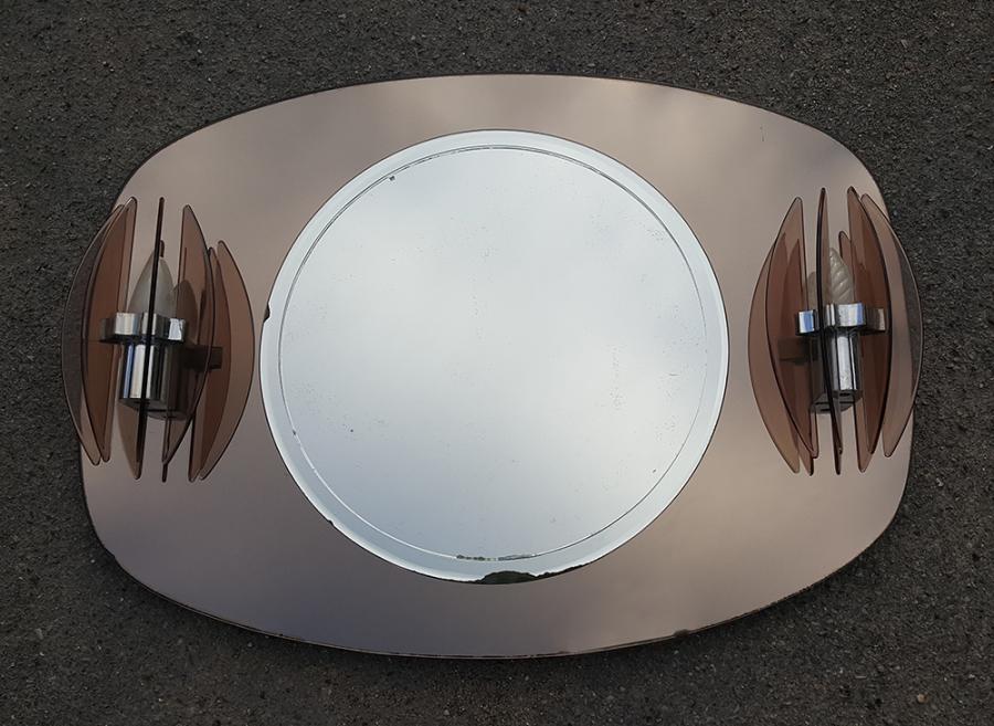 Broc co miroirs space age miroirs 1970 1960 1950 - Salle de bain annee 70 ...