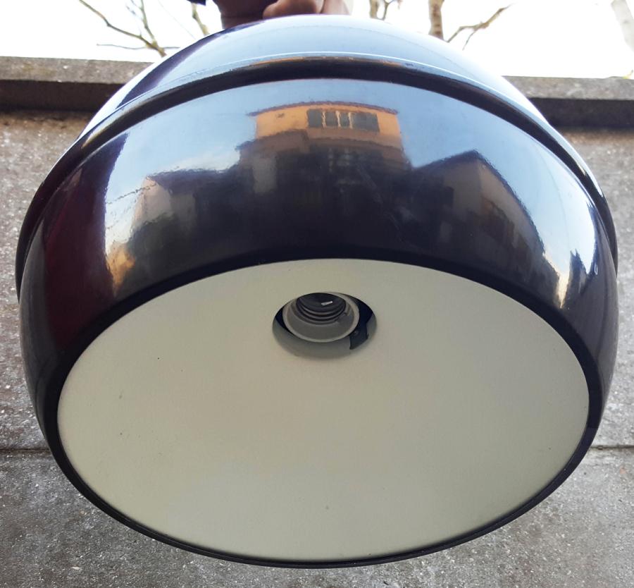 Suspensions lampes lustres ann es 50 60 et 70 space age vintage scandinave - Grosse ampoule ronde ...