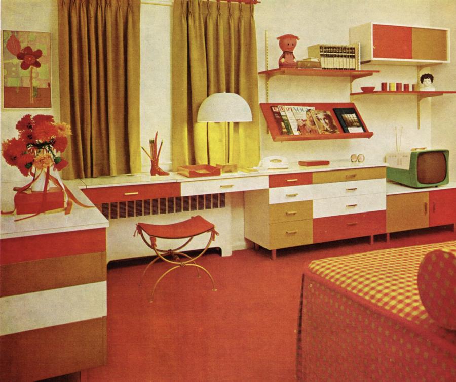 Broc co meubles et objets vintage des ann es 1950 for 1970 s colonial home remodel