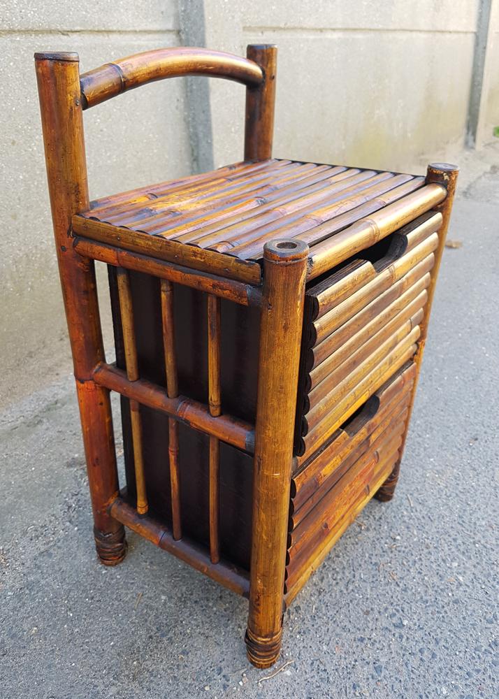 Broc co fauteuils salon chaises tables basses pouf - Table de chevet en bambou ...