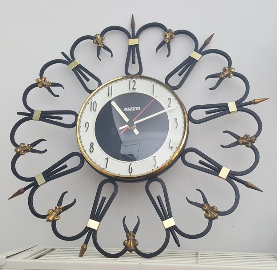 Grosse Horloge Fer Forgé broc & co : réveils, pendules, horloge, objets vintage des
