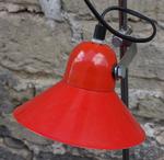 lampadaire 3 spots rouge vintage années 70