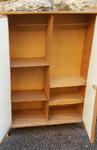 armoire poupée vintage bois rotin