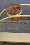 porte pots, cache pots, vintage, années 60, bambou, rotin