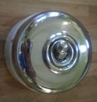 Interrupteurs ancien, porcelaine et inox, années 50