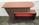 Bar vintage formica, bois et rouge, années 60, 70
