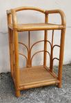 etagère, chevet, bout de canapé bambou rotin, vintage, années 60