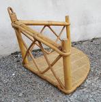étagère d'angle rotin et bambou, vintage années 60