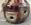 Lampe de sol céramique années 70 vintage