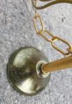 suspension verre ciselé, laiton, vintage années 50