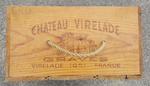 caisse vin ancienne bois, poignée en corde