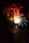 lampe d'ambiance à poser, fleur fibre optique, vintage années 70