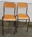 Deux chaises écoliers hautes, vintage, années 60