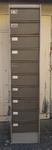 armoire à 10 clapets, métal, vintage, années 50
