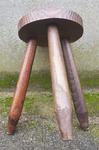 Tabouret porte pot bois brut, tripode, vintage, années 60