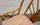 Fauteuil de bureau, bambou et rotin, pivotant,  vintage