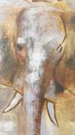 Peinture à l'huile sur toile éléphant