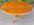 table basse guéridon en merisier, vintage, années 70