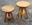 Tabouret à vis d'horloger en bois, couleur naturel