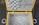 Boite à couture capitonnée, rotin, osier et scoubidou, années 50