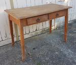 Table de ferme ou de campagne, bureau deux tiroirs
