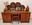 bureau années 50 en bois