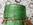 Dame Jeanne Levante, en très bon état, verte et en verre, vintage