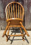 Chaise Windsor, bois massif, vintage, années 60