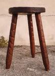 tabouret porte pot, esprit brutaliste, vintage, années 60