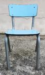 chaise d'écolier Formica, vintage, années 50