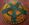 Panier tressé vert et orange, tribal africain, Boswana