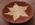 Panier tressé, étoile crème sur fond rouille, tribal, ethnique, vide poche ou décor mural