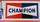 """plaque tôle """"Champion"""", bougies, années 50, vintage"""
