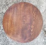 Tabouret à vis ancien, couleur chêne moyen- esprit campagne, vintage