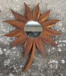 miroir bois fleur vintage années 60